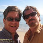 Steve George and Pat Mastelotto Beach Selfie - Mr. Mister