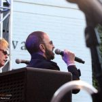 Richard Page & Ringo Starr singing at John Varvatos